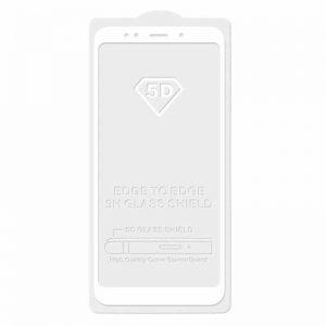 Защитное стекло 5D Full Glue (на весь экран) для Xiaomi Redmi Note 6 Pro (White)