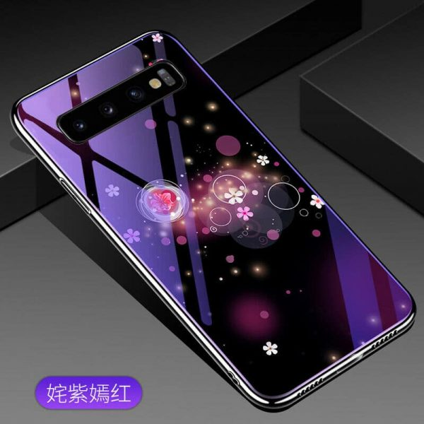 TPU+Glass чехол Fantasy с глянцевыми торцами для Samsung G973 Galaxy S10 (Bubbles with flowers)