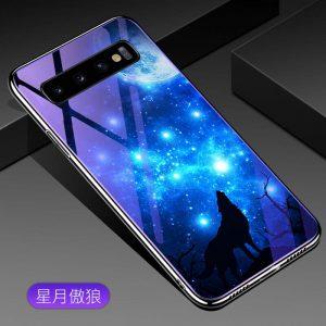 TPU+Glass чехол Fantasy с глянцевыми торцами для Samsung G975 Galaxy S10 Plus (Moon night)