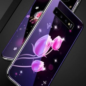TPU+Glass чехол Fantasy с глянцевыми торцами для Samsung G975 Galaxy S10 Plus (Tulip)