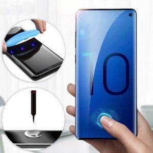 Защитное стекло 3D / 5D UV Full Glue с УФ клеем для Samsung G973 Galaxy S10 – Clear