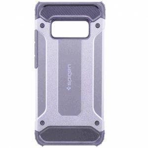 Противоударный бронированный чехол Spigen для Samsung G970 Galaxy S10e (Silver)