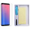 Защитное стекло 3D / 5D Full Glue с УФ клеем для Samsung G955 Galaxy S8 Plus (Прозрачное / Clear)