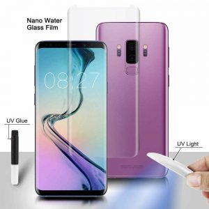 Защитное стекло 3D / 5D Full Glue с УФ клеем для Samsung G950 Galaxy S8 (Прозрачное / Clear)