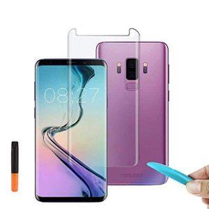 Защитное стекло 3D / 5D Full Glue с УФ клеем для Samsung G965 Galaxy S9 Plus (Прозрачное / Clear)