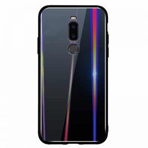TPU+Glass чехол Gradient Aurora с градиентом для Meizu X8 (Black)