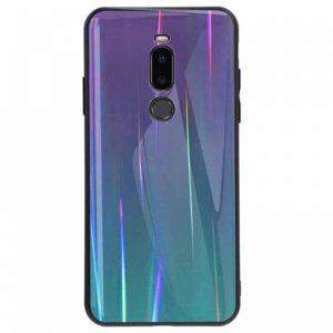 TPU+Glass чехол Gradient Aurora с градиентом для Meizu X8 (Violet)