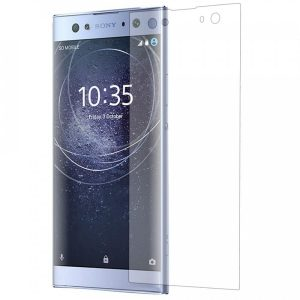 Защитное стекло 3D Full Cover (на весь экран) для Sony XA2 (Прозрачное / Clear)