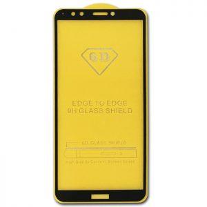 Защитное стекло 6D Full Glue Cover Glass на весь экран для Huawei Y7 / Y7 Prime 2018 / Honor 7C Pro – Black