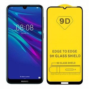 Защитное стекло 9D Full Glue Cover Glass на весь экран для Huawei Y7 2019 / Y7 Prime / Y7 Pro – Black