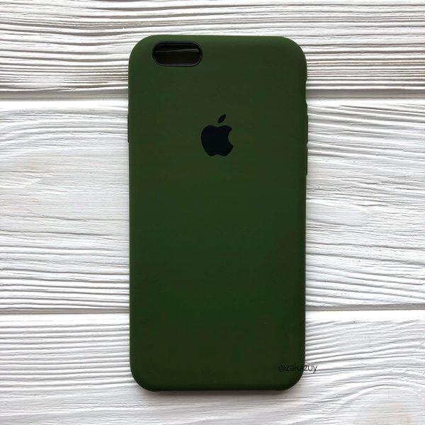 Оригинальный чехол Silicone Case с микрофиброй для Iphone 6 / 6s №48 (Хаки / Khaki)