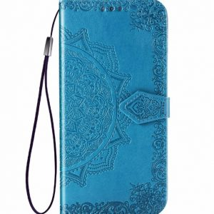 Кожаный чехол-книжка Art Case с визитницей для Xiaomi Redmi Note 9s / Note 9 Pro / Note 9 Pro Max – Синий