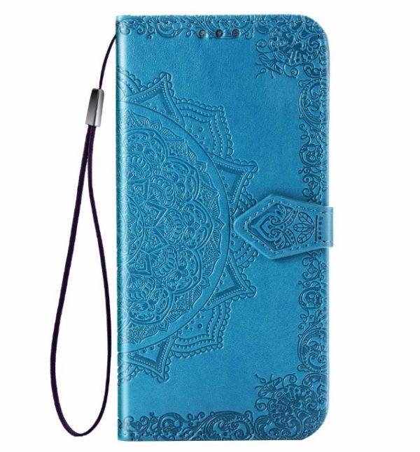 Кожаный чехол-книжка Art Case с визитницей для Xiaomi Redmi 9A – Синий