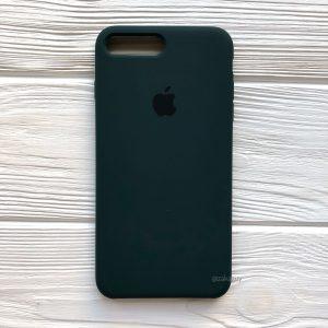 Оригинальный силиконовый чехол (Silicone case) для Iphone 7 Plus / 8 Plus №49 (Dark Green)