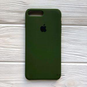 Оригинальный силиконовый чехол (Silicone case) для Iphone 7 Plus / 8 Plus №48 (Хаки / Khaki)