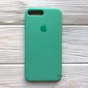 Оригинальный чехол Silicone Case с микрофиброй для Iphone 7 Plus / 8 Plus №50 (New Mint)