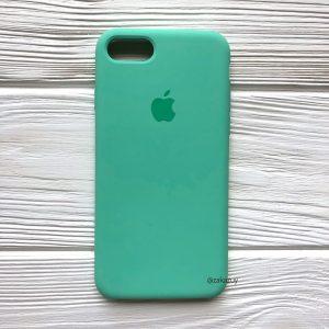 Оригинальный чехол Silicone Case с микрофиброй для Iphone 7 / 8 №50 (New mint)