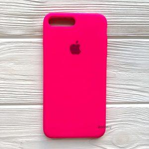 Оригинальный силиконовый чехол (Silicone case) для Iphone 7 Plus / 8 Plus №47 (Ultra Pink)