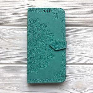 Кожаный чехол-книжка Art Case с визитницей для Xiaomi Redmi 7A (Бирюзовый)