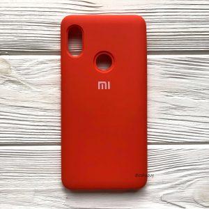 Оригинальный чехол Silicone Cover 360 с микрофиброй для Xiaomi Redmi Note 5 / 5 Pro (Оранжевый)