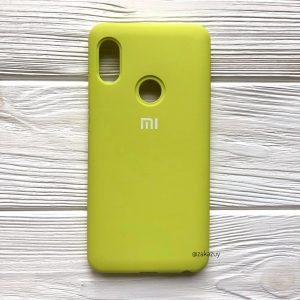 Оригинальный чехол Silicone Cover 360 с микрофиброй для Xiaomi Redmi Note 5 / 5 Pro (Желтый)