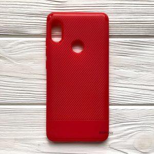 Cиликоновый (TPU) чехол Carbon  для Xiaomi Redmi Note 5 / 5 Pro (Красный)