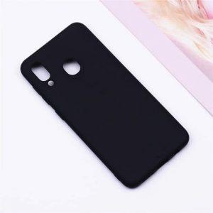 Матовый силиконовый (TPU) чехол (накладка) Samsung A405 Galaxy A40 (Черный / Black)