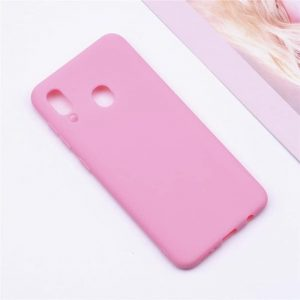 Матовый силиконовый (TPU) чехол Samsung A405 Galaxy A40 (Розовый)
