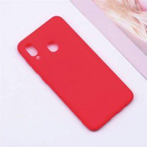 Матовый силиконовый TPU чехол на Samsung A305 Galaxy A30 Red