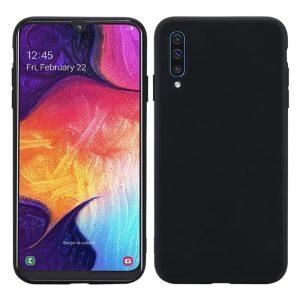 Матовый силиконовый (TPU) чехол для Samsung Galaxy A50 2019 (A505) / A30s 2019 (A307) (Черный)