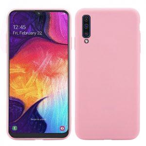 Матовый силиконовый (TPU) чехол для Samsung Galaxy A50 2019 (A505) / A30s 2019 (A307) (Розовый)