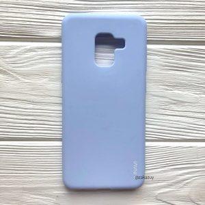 Матовый силиконовый (TPU) чехол (накладка) для Samsung A730 Galaxy A8 Plus (2018) (Светло-голубой / Light Blue)
