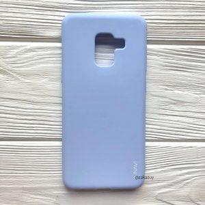 Матовый силиконовый (TPU) чехол (накладка) для Samsung A730 Galaxy A8 Plus (2018) (Светло-голубой)