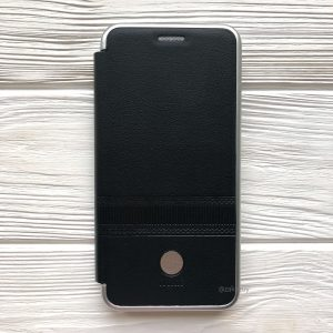 Кожаный чехол-книжка iMAX для Samsung A600 Galaxy A6 (2018) Black