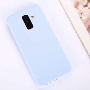 Матовый силиконовый (TPU) чехол (накладка) для Samsung A605 Galaxy A6 Plus 2018 (Светло-голубой / Light Blue)