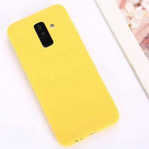 Матовый силиконовый (TPU) чехол (накладка) для Samsung A605 Galaxy A6 Plus 2018 (Желтый / Yellow)