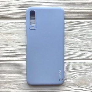 Матовый силиконовый (TPU) чехол (накладка) для Samsung A750 Galaxy A7 2018 (Светло-голубой)