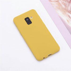 Матовый силиконовый (TPU) чехол (накладка) Samsung A730 Galaxy A8 Plus (2018) (Желтый / Yellow)
