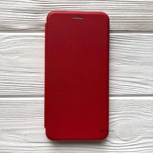 Кожаный чехол-книжка (экокожа+TPU) для Samsung A920 A9 2018 (Красный / Red)