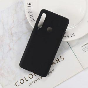 Матовый силиконовый (TPU) чехол (накладка) Samsung A920 Galaxy A9 (2018) (Черный / Black)