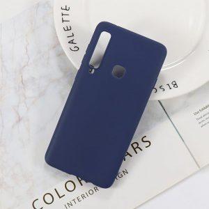 Матовый силиконовый (TPU) чехол (накладка) Samsung A920 Galaxy A9 (2018) (Синий / Blue)