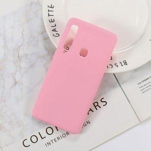 Матовый силиконовый (TPU) чехол (накладка) Samsung A920 Galaxy A9 (2018) (Розовый / Pink)