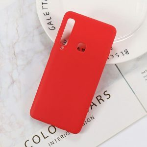 Матовый силиконовый (TPU) чехол (накладка) Samsung A920 Galaxy A9 (2018) (Красный / Red)