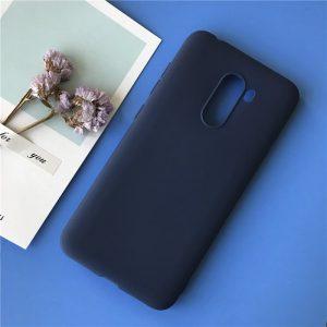 Матовый силиконовый TPU чехол на Xiaomi Pocophone F1 (Синий)