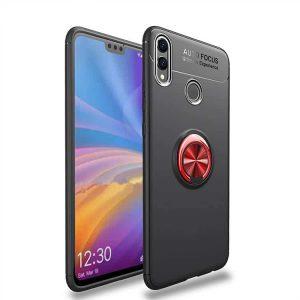 Cиликоновый чехол Deen ColorRing с креплением под магнитный держатель для Huawei Honor 8x (Красный / Red)