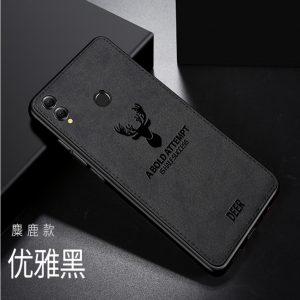 Силиконовый чехол (TPU+экокожа) Deer для Huawei Honor 8x (Черный / Black)