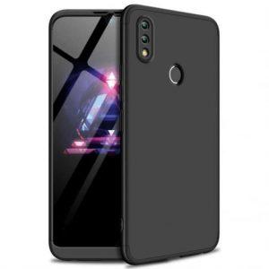 Матовый пластиковый чехол GKK 360 градусов для Huawei Honor 8x (Черный)
