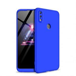 Матовый пластиковый чехол GKK 360 градусов для Huawei Honor 8x (Синий)