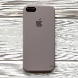 Оригинальный силиконовый чехол (Silicone case) для Iphone 5 / 5s / SE  №34 (Lavender)