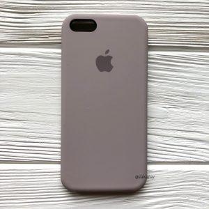 Оригинальный чехол Silicone Case с микрофиброй для Iphone 5 / 5s / 5c / SE №34 (Lavender)